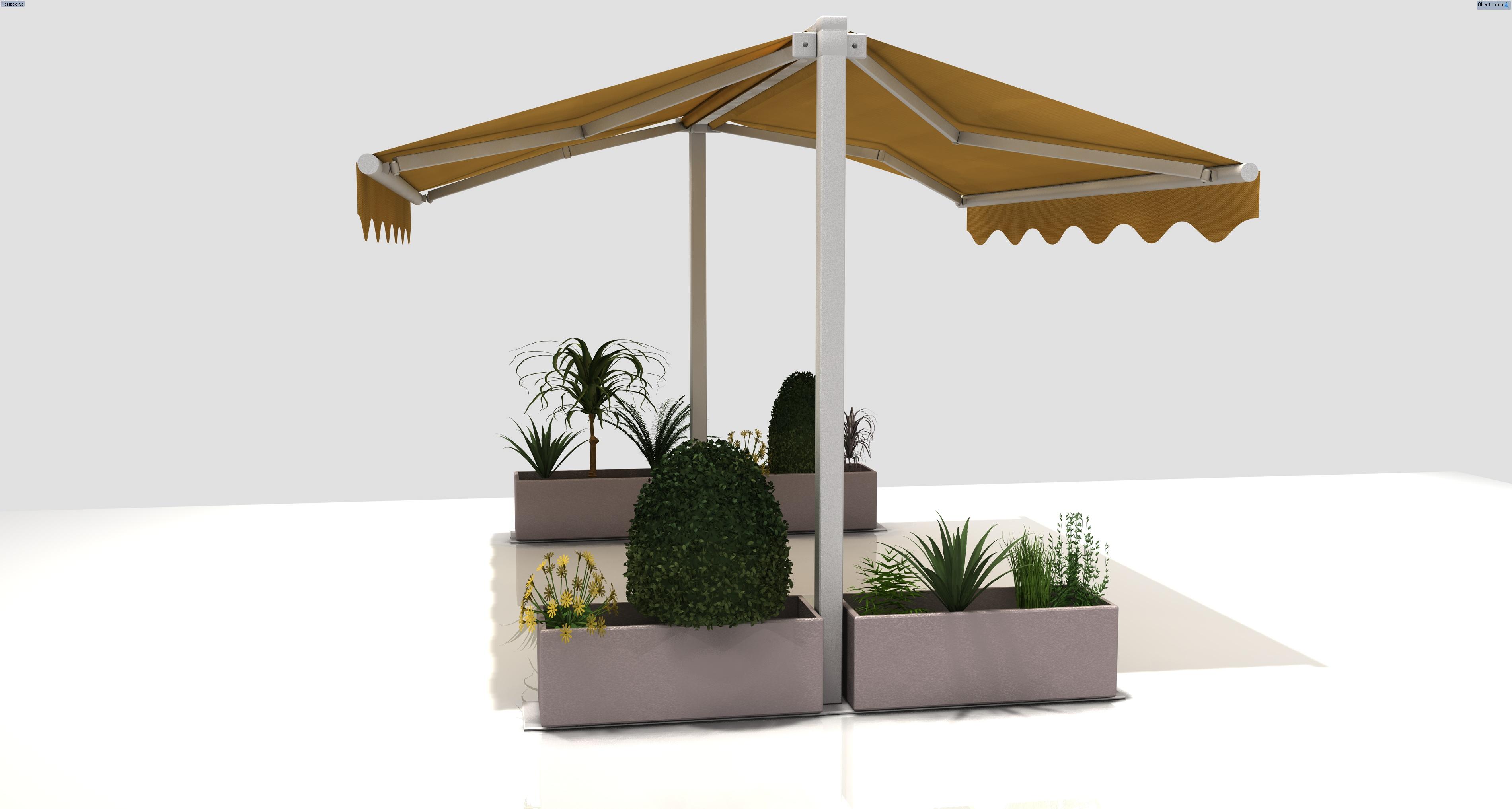 Toldo doble duox toldos y persianas rodrisol toldos for Precios de toldos para terrazas